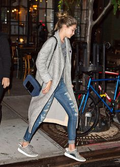 runwayandbeauty: Gigi Hadid - Night out in New... - In the streets...