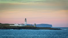 "https://flic.kr/p/NKgiSo | Lighting the Way | Stroma lighthouse on the island of Stroma in the Pentland Firth. An early morning shot at sunrise from the ferry ""Pentalina"". In the Distance is Dunnet Head lighthouse, 2 of the lighthouses lighting the way along the North Coast of Scotland."