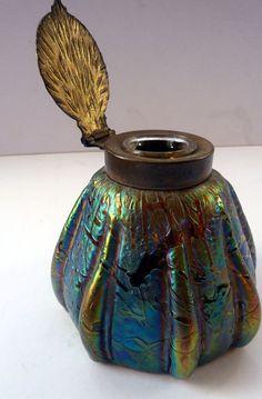 Kralik Glass Inkwell