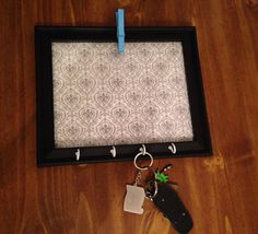 Memo Board & Key Holder on Etsy, $25.00
