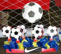 Soccer party center piece soccer party utensils Soccer party utensils (Barcelona) Soccer party name banner (Barcelona) So. Barcelona Soccer Party, Barcelona Team, Soccer Birthday Parties, Party Names, Name Banners, Soccer Ball, Party Planning, Projects To Try, Utensils