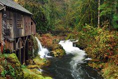 Cedar Creek Grist Mill  ~A real working mill near Vancouver, Washington.