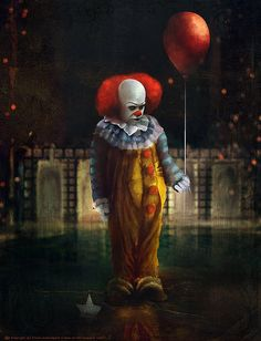 """""""Pennywise the Dancing Clown""""... Tierno Beauregard aka Ourlak is a talented digital artist living and working in Paris, France."""