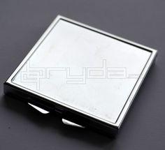 Zrcátko otevírací (dvojité) 6x6 cm - ČTVEREC