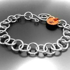 Handmade silver jewelry braclets; handmade copper bracelets; hammered silver jewelry; Baton Rouge, Louisiana