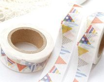 Colorful Birthday Banner Washi Tape - AA