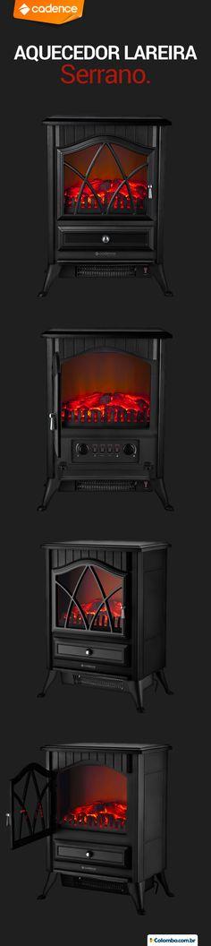 Quer uma lareira, mas fica impossível em apartamento? O aquecedor elétrico Lareira Serrano tem esta temática fofa para surpreender no inverno: http://www.colombo.com.br/produto/Portateis/Aquecedor-Eletrico-Lareira-Serrano-AQC801-Cadence?utm_source=Pinterest&utm_medium=Post&utm_content=Aquecedor-Eletrico-Lareira-Serrano-AQC801-Cadence&utm_campaign=Produto-28abr14