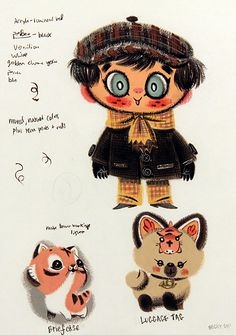 East to West: Concept Art #2, Becky Dreistadt. Cute animals!