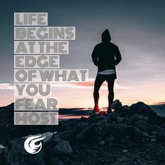 If you always live your life in fear you're never gonna truly live. Let your fears go because they are just a state of mind!  Life begins at the edge of fear. Visit us at insta for more quotes.