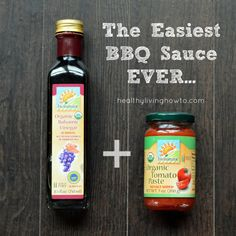 BBQ sauce from tomato paste and balsamic vinegar - just whisk together equal amounts of each.