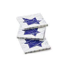 Hanukkah Sketch Paper Beverage Napkins Set of 20