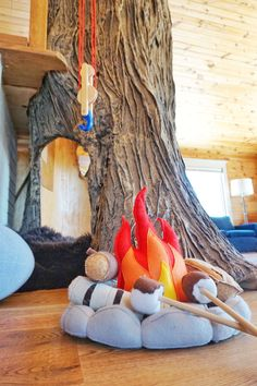 """This Amazing """"Indoor Tree House"""" Is Every Kid's Dream Come True This Amazing . This Amazing """"Indoor Tree House"""" Is Every Kid's Dream Come True This Amazing """"Indoor Tree Fake Indoor Trees, Indoor Tree House, Fake Trees, Tree House Interior, Tree House Decor, Treehouse Living, Treehouse Ideas, Woodworking Courses, Build A Playhouse"""