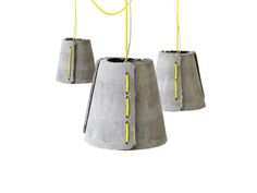 Cem Concrete Pendant Lamp for Dining Room Concrete Lamp, Pendant Lamp, Bucket Bag, Dining Room, Design, Swag Light, Hanging Pendants, Dining Rooms