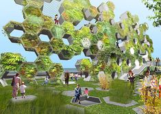 vertical farm, green design, The Billboard Park, EFGH Architectural Design Studio Urban Architecture, Futuristic Architecture, Classic Architecture, Sustainable Furniture, Sustainable Design, Architectural Design Studio, Architectural Firm, Urban Park, Urban Planning