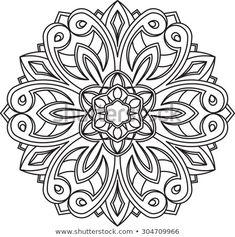Entdecken Sie dies und Millionen weitere lizenzfreie Stock-Fotos, Illustrationen und Vektorgrafiken in der Shutterstock-Sammlung. Jeden Tag werden Tausende neue, hochwertige Bilder hinzugefügt. Mandala Coloring Pages, Colouring Pages, Coloring Books, Adult Coloring, Design Mandala, Mandala Pattern, Mandala Tattoo, Mandala Art, Applique Patterns