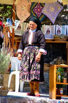 Traditions of Karpathos, Greece (I miss SO MUCH all the moms of the various island villages wearing their traditional clothing, even when it was just black dress and scarf.) I love you, Greece. Zorba The Greek, Myconos, Santorini Greece, Folk Costume, People Of The World, World Cultures, Macedonia, Greece Travel, Beautiful Islands