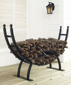 Look at this Gunnison Firewood Storage Rack on #zulily today!