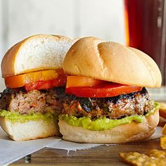 Grilled Poblano Chile Burgers - Carrots and poblano peppers mixed right in with the ground beef! Yum! More burger recipes: http://www.bhg.com/recipes/burgers/grilled-burger-ideas/