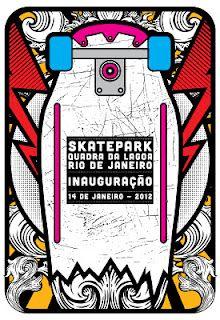 art poster for Nike SB skate park in Rio de Janeiro