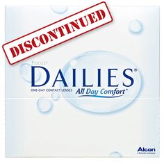 Advisory: The Focus Dailies product line is being officially discontinued by the manufacturer, Alcon (formerly Ciba Vision). Don't worry--we've got you covered! What You Can Do, You Got This, Ciba Vision, Don't Worry, No Worries, Lenses, Personal Care, Day