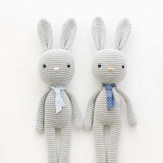 amigurumi-conejo-bunny patron gratis