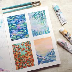 Some small Monet inspired doodles.