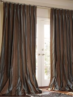 Dupioni Silk Drapes French Pleat, drapery fabric, dupioni silk curtains ~ Home Design Dupioni Silk Fabric, Faux Silk Curtains, Cotton Silk Fabric, Door Curtains, Drapery Fabric, Sheer Curtains, Indian Curtains, French Pleat, Orange Walls