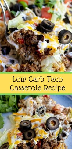 Low Carb Taco Casserole Recipe - Low carb Mexican food in the form of a taco ca. - Low Carb Taco Casserole Recipe – Low carb Mexican food in the form of a taco casserole! Low Sugar Recipes, Healthy Low Carb Recipes, Low Carb Keto, Diet Recipes, Low Carb Hamburger Recipes, Sugar Foods, Diet Meals, Diet Foods, Healthy Nutrition