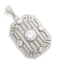 Diamond pendant (once owned by Marlene Dietrich)