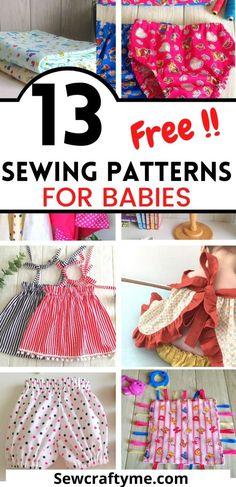 Free Printable Sewing Patterns, Sewing Patterns For Kids, Sewing For Kids, Free Sewing, Printable Templates, Sewing Baby Clothes, Baby Clothes Patterns, Baby Patterns, Baby Romper Pattern Free