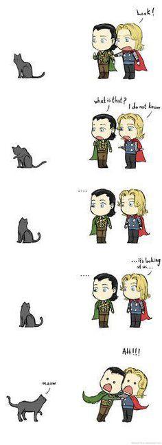 Thor/Loki <3 cute