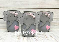 🐘 Original Elephant Mason Jar,Elephant Baby Shower, Pink and Grey Elephant #littlepeanut #elephantbabyshowergirl #pinkandgreyelephant