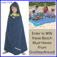 Needing some beach must-haves?  Look no further than this awesome giveaway from our friends at #HavingFunSaving!  Enter now through 7/24 for your chance to win! http://www.havingfunsaving.com/2015/07/onestepahead-beach-must-haves-giveaway.html