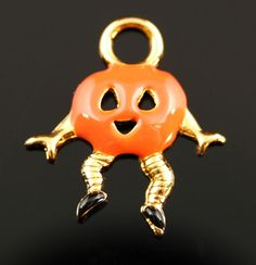 Pumpkin Man Charm - Great way to show you love for Halloween and the Fall Season.