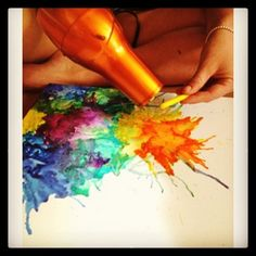 Crayon art! So pretty in a room and easy to make, plus it doesnt cost much :)