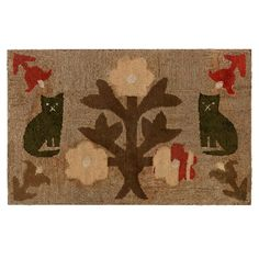 Cats Hooked Rug