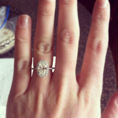 AMAZING ring from Blue Nile! I LOVE the elongated oval, makes for slender fingers. Maybe this...but in rose gold please.