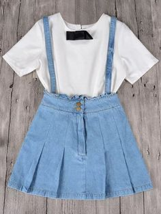 SHARE & Get it FREE | Frilled Suspender Denim Skirt - Light BlueFor Fashion Lovers only:80,000+ Items • New Arrivals Daily Join Zaful: Get YOUR $50 NOW!