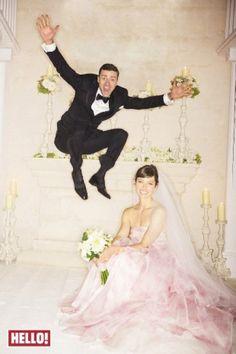 Justin Timberlake and Jessica Biels first wedding photo