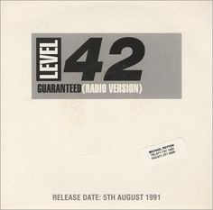 """For Sale -Level 42 Guaranteed UK Promo  7"""" vinyl single (7 inch record)- See this and 250,000 other rare and vintage records & CDs at http://eil.com/"""