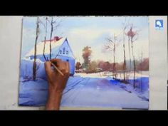 ▶Watercolour snowscape tutorial by Milind Mulick. I love this.