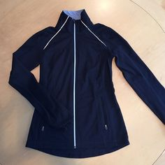Lulu lemon running jacket Lulu lemon running jacket, versatile layering piece for outdoor exercise or casual wear.  worn twice but grew out of it--runs small as is typical of lulu! lululemon athletica Jackets & Coats
