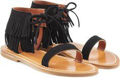 K.Jacques Suede Sandals