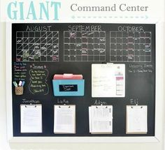 How to Stay Organized with a Family Command Center