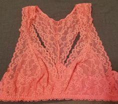 Victoria s Secret Bralette Racerback Lace Pink Medium M  fashion  clothing   shoes  accessories 5a3b6135d