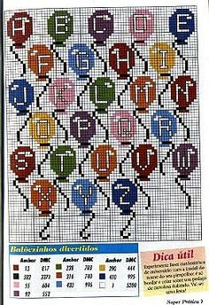 Flashup Plastic Canvas Letters, Plastic Canvas Crafts, Cross Stitch Letters, Cross Stitch Tree, Alfabeto Disney, Canvas Patterns, Letters And Numbers, Cross Stitching, Stitch Patterns