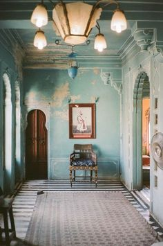 If it's good enough for the maharani, it's good enough for me. We modeled our living room after this room in the City Palace in Udaipur, India. Home Interior Design, Interior Architecture, Interior And Exterior, Interior Decorating, Indian Interiors, Colorful Interiors, Udaipur India, Ace And Jig, Home Decor Inspiration