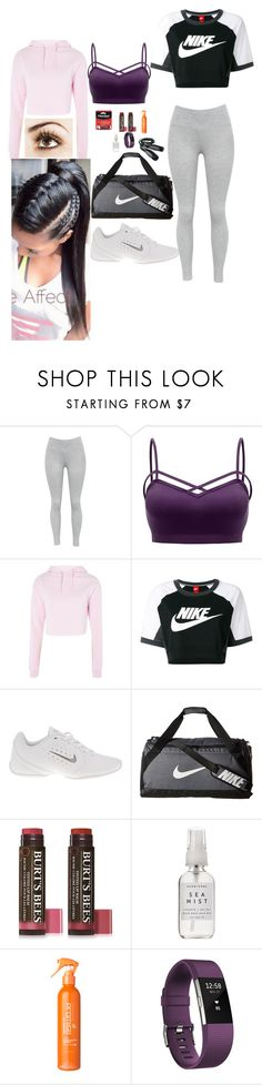 """""""Going Out to Workout"""" by tenderheart6489 ❤ liked on Polyvore featuring Topshop, NIKE, Burt's Bees, Herbivore, Uniqkka and Fitbit"""