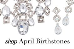 While we love emeralds and pearls, those born in April have definitely scored the most luxurious birthstone-- diamonds. Take a look at all our diamond-inspired pieces to pick up gifts for friends and family (and a special something for you too!).