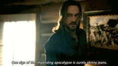 """When Abbie tried to update Ichabod's wardrobe, and failed. 